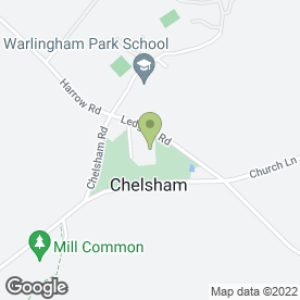 Map of Warlingham Park School in Warlingham, surrey