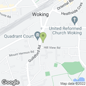 Map of Drs Smith, Newman, Evans, Shiel & Knights in Woking, surrey