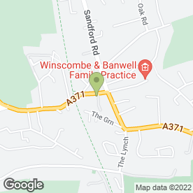 Map of Winscombe Business Services in Winscombe, avon