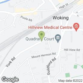 Map of Alan Montague Ltd in Woking, surrey