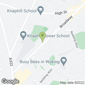 Map of The Pied Piper Playschool in Knaphill, Woking, surrey