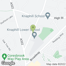 Map of Holy Trinity Pre-School in Knaphill, Woking, surrey