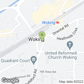 Map of Business Interior Solutions Ltd in Woking, surrey