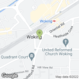 Map of LYNTON HOUSE VETERINARY GROUP in Woking, surrey