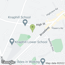 Map of Myra's Canine Beautician in Knaphill, Woking, surrey