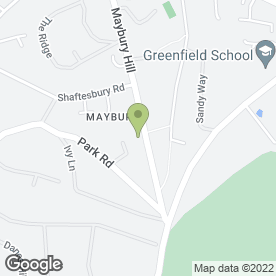 Map of Maybury Hill Service Station in Woking, surrey