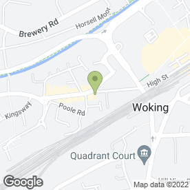 Map of Papa John's in Woking, surrey