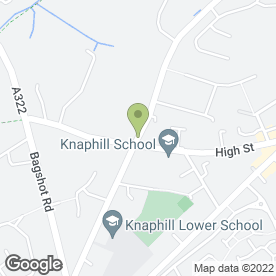 Map of A.J Chowney in Knaphill, Woking, surrey
