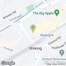 Map of Skipton Building Society in Woking, surrey
