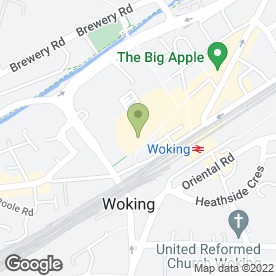 Map of Greggs in Woking, surrey