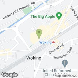 Map of Thomson in Woking, surrey