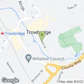 Map of Lamming & Son Printers in Trowbridge, wiltshire