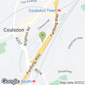 Map of Coulsdon Audi in Coulsdon, surrey