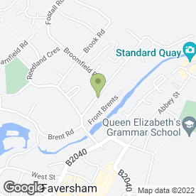 Map of Little Moonbeams Day Nursery in Faversham, kent