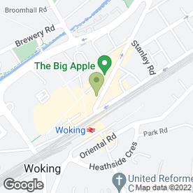 Map of Harding Management Ltd in Woking