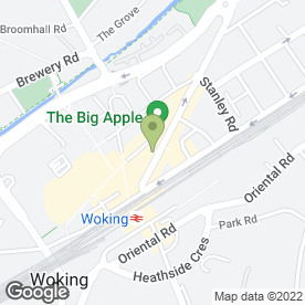 Map of Sovereign Travel Ltd in Woking, surrey