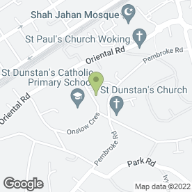 Map of Stepping Stones St. Dunstan's Nursery in Woking, surrey
