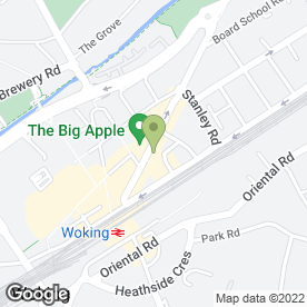 Map of SINGER SEWING CENTRE in Woking, surrey