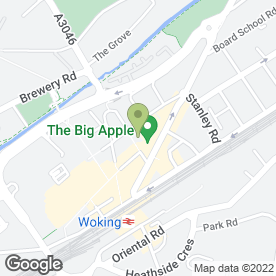 Map of Royal Bank of Scotland in Woking, surrey