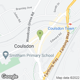 Map of Advanced Print Services in Coulsdon, surrey