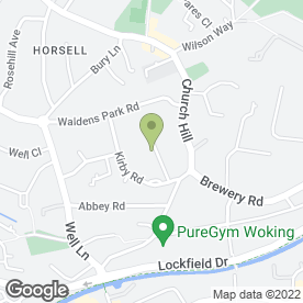 Map of N.G Rudd in Horsell, Woking, surrey