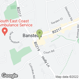 Map of Langdon West Williams plc in Banstead, surrey