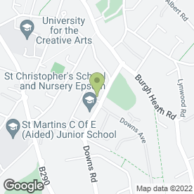 Map of Westburys Chartered Surveyors in Epsom, surrey