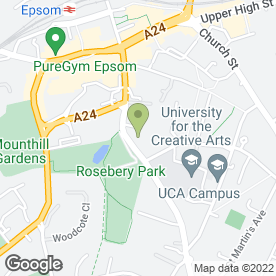 Map of Action for Blind People in Epsom, surrey