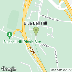 Map of Akela (E.C) Ltd in Blue Bell Hill, Chatham, kent