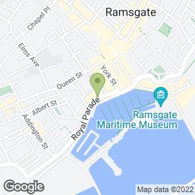 Map of Thai Orchid Restaurant in Ramsgate, kent