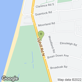 Map of Beachlands Hotel in Weston-Super-Mare, avon