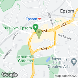 Map of Costa Coffee in Epsom, Surrey
