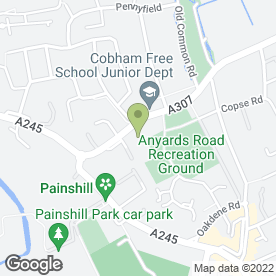 Map of Mundays Llp in Cobham, surrey