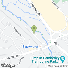 Map of Initial Facilities in Blackwater, Camberley, surrey