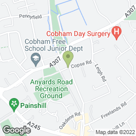 Map of T J Bathrooms in Cobham, surrey