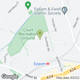 Map of Epsom Cabs & Cars in Epsom, surrey