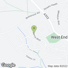 Map of RM Property Maintenance in West End, Woking, surrey