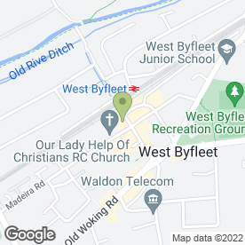 Map of C'Est Chic in West Byfleet, surrey