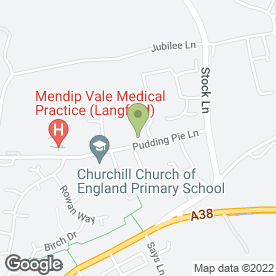 Map of Wrington Vale Medical Practice in Langford, Bristol, avon