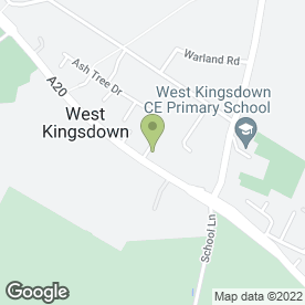 Map of CINDERELLA DRESSES in West Kingsdown, Sevenoaks, kent