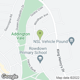 Map of Calleydown Short Stay Unit in New Addington, Croydon, surrey
