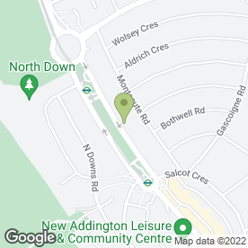 Map of Dr J O Salerno in New Addington, Croydon, surrey