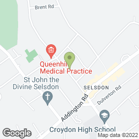 Map of Burchell & Associates in South Croydon, surrey