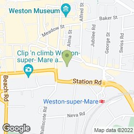 Map of Tesco Superstore in Weston-Super-Mare, avon