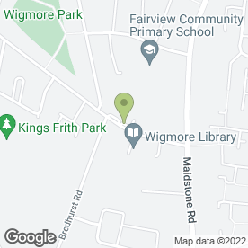Map of FAIRVIEW M.O.T CENTRE in Gillingham, kent