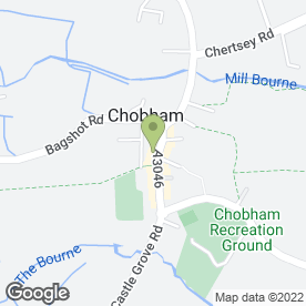 Map of CHOBHAM TRAVEL in Chobham, Woking, surrey
