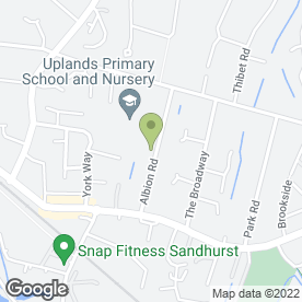 Map of Sandhurst Nursery School in Sandhurst, berkshire
