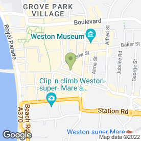 Map of MASK OF VENICE in Weston-Super-Mare, avon