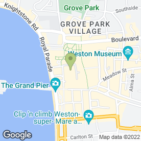 Map of Drucker's Vienna Patisserie in Weston-Super-Mare, avon