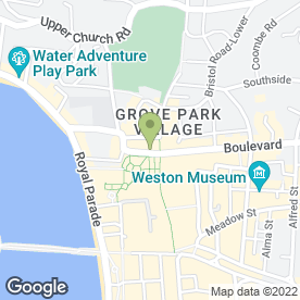 Map of Lloyds TSB Business Banking in Weston-Super-Mare, avon
